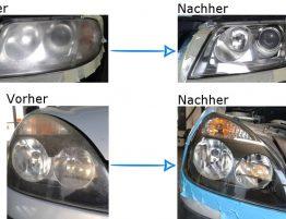 Scheinwerfer polieren, austauschen. erneuren, Autoglas, reparatur, restaurieren